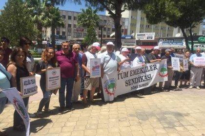 Tüm Emekliler Sendikası Söke şubesi %5 zammı protesto etti