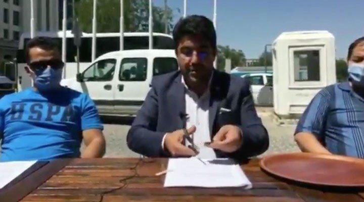 15 Temmuz gazisi, gazilik kartını AKP önünde kesti