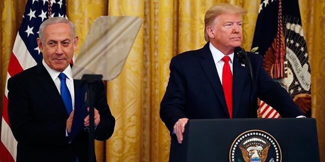 ABD Başkanı Donald Trump, Washington'da 'Yüzyılın Planı'nı açıkladı