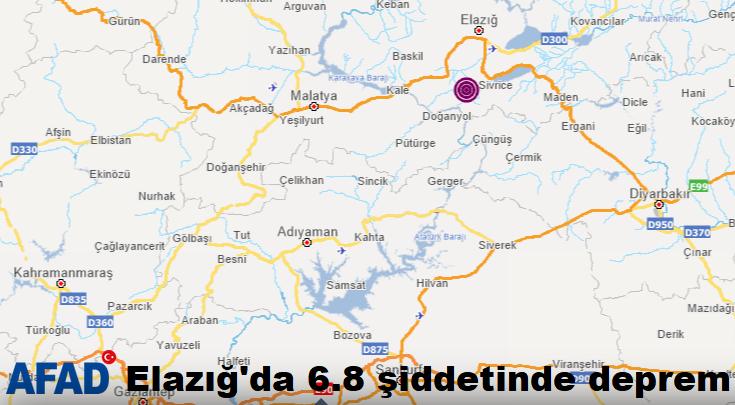 AFAD; Elazığ'da 6,8 şiddetinde depremde 6 kişi hayatını kaybetti
