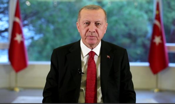 """AKP Genel Başkanı ve Cumhurbaşkanı Erdoğan; """"Her vatandaşımızın canı bizim için aynı derecede değerlidir, bunun için 'Evde kal Türkiye' diyoruz"""""""