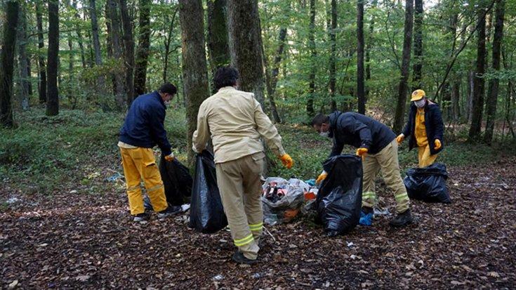 Belgrad Ormanı'ndan tonlarca çöp çıktı