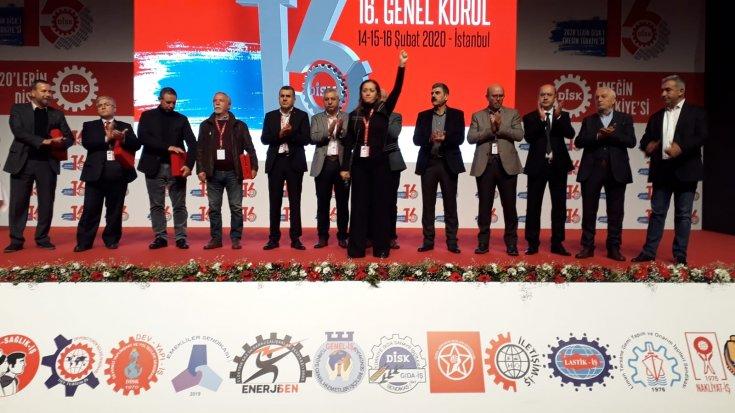 DİSK başkanlığına yeniden Arzu Çerkezoğlu seçildi