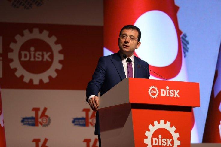 Ekrem İmamoğlu: Örgütlü işçiler, Türkiye'de toplumsal bütünlüğün en önemli unsuru, sosyal barışın da bir güvencesi