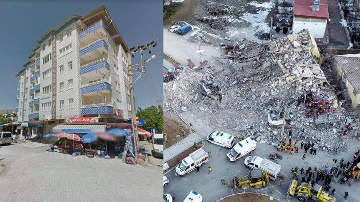 Elazığ'da 6 katlı 2 bloklu binanın çökmeden önceki fotoğrafları ortaya çıktı
