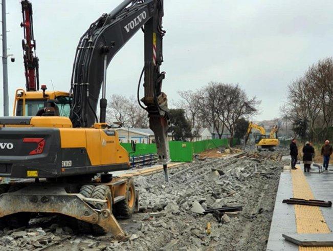 Eminönü-Alibeyköy Tramvay inşaatı çökmeye rağmen tamamlanıyor
