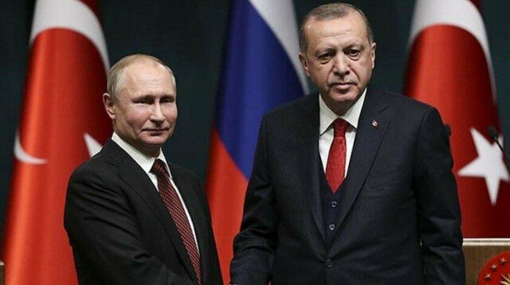Erdoğan ile Putin ile görüştü