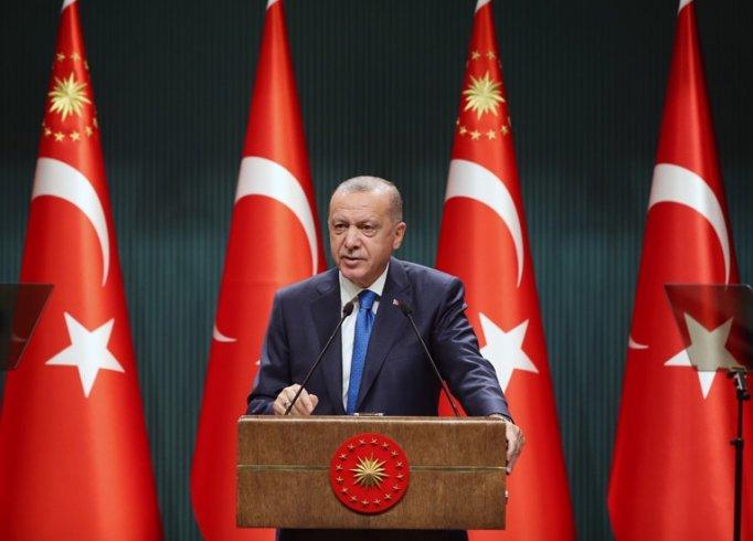 Erdoğan; 'Üretim çarklarının durmaması için her türlü tedbiri aldık'