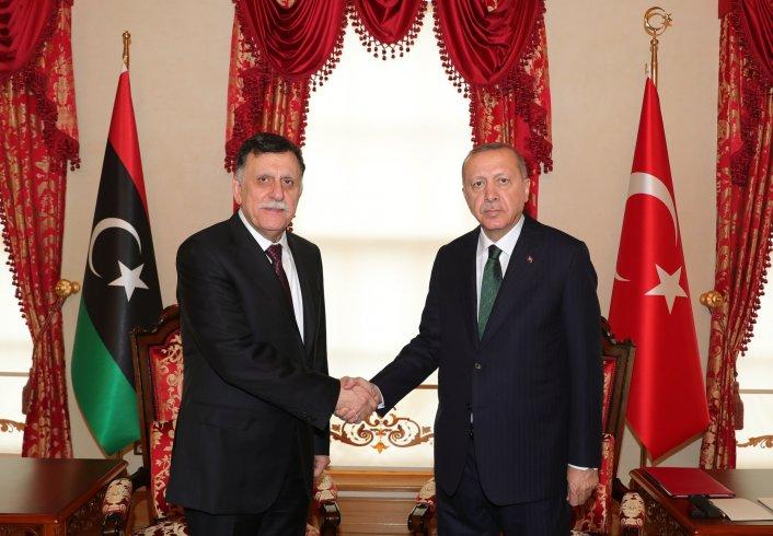 Erdoğan ve Sarraj görüştü