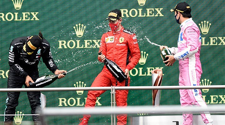 Formula 1 kupa töreninde şampanya yerine gazoz verildi' - istanbulgercegi.com