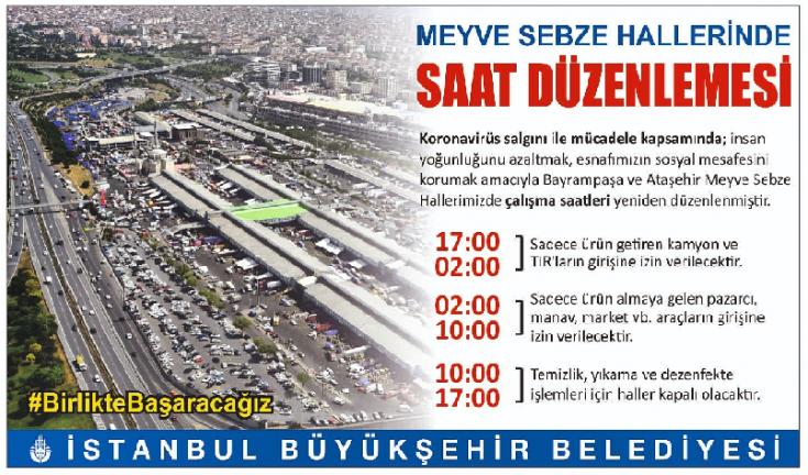 İBB Bayrampaşa ve Ataşehir meyve sebze hallerinde saat ayarlaması yapıldı