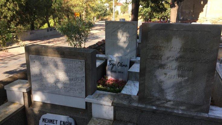 İBB, ressam Tiraje Dikmen'in çöken mezarının bakımını yaptı