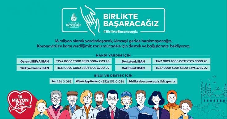 İBB yardım kampanyası için hesap numaralarını paylaştı: Kimseyi geride bırakmayacağız, birlikte başaracağız