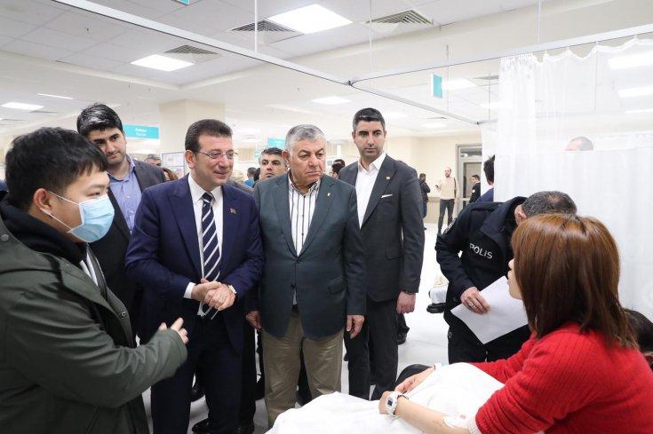 İmamoğlu'ndan uçak kazasında yaralanan yurttaşlara ziyaret