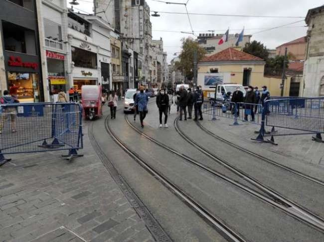 İstiklal Caddesi'nde 7 bin kişi kısıtlaması başladı
