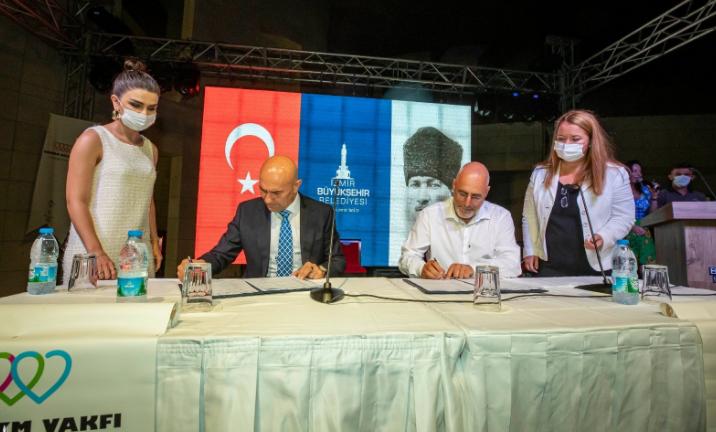 İzmir Büyükşehir Belediyesi ile Anadolu Otizm Vakfı arasında 'Otizm Yerleşkesi Projesi'nin protokolü imzalandı