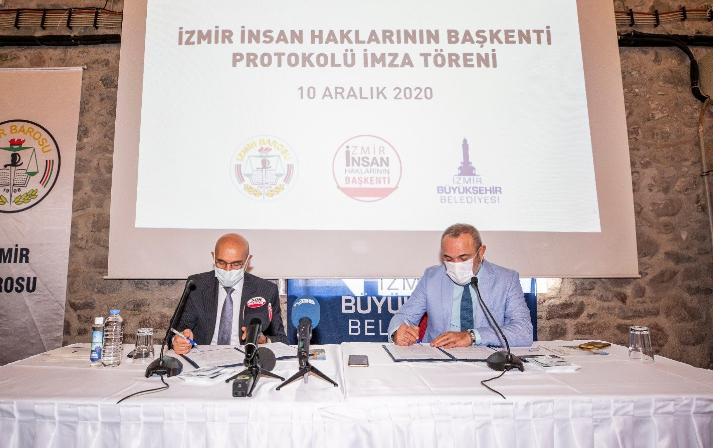 İzmir Büyükşehir Belediyesi ve İzmir Barosu arasında protokol: 'İlk kez bir belediye adalete erişim için kaynak ayırdı'