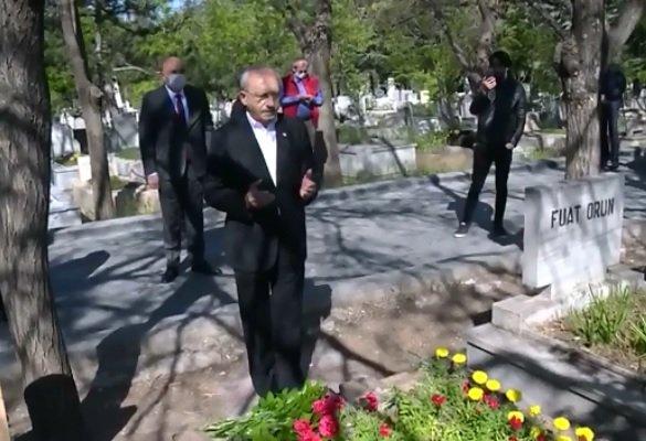 Kılıçdaroğlu Üç Fidan'ı mezarı başında andı