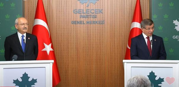 Kılıçdaroğlu ve Davutoğlu'ndan ortak açıklama