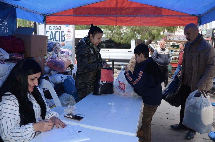 Kuşadası'ndan deprem bölgesine 2532 bağış