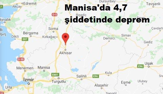 Manisa'da 4,7 şiddetinde deprem