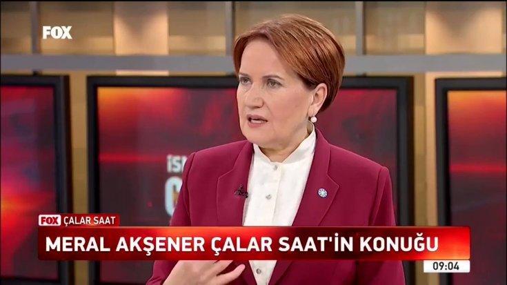 Meral Akşener FOX TV'ye konuk oluyor