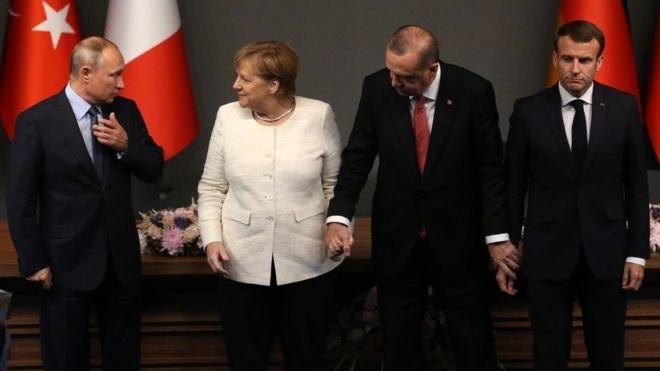 Merkel ve Macron Putin'i aradı, Erdoğan'la zirve önerdi
