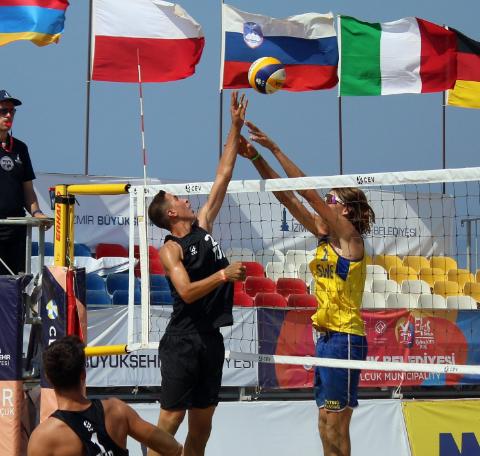 Türk ekipler, U18 Avrupa Plaj Voleybolu Şampiyonası'na veda etti