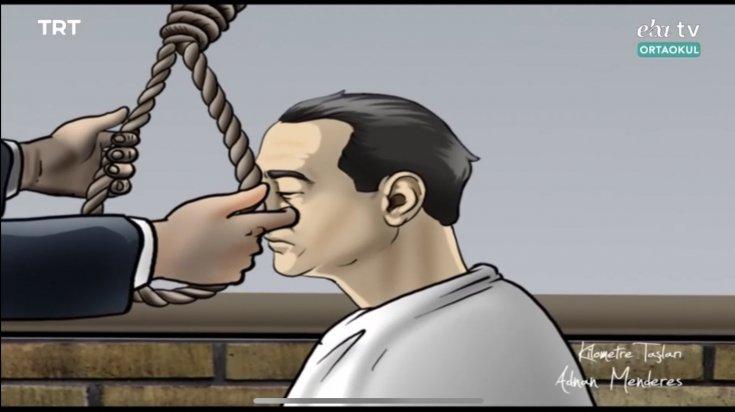 Uzaktan eğitimde skandal: Adnan Menderes'in idamı ortaokul öğrencilerine detaylıca izletildi