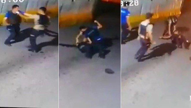Yumuk yumruğa kavga eden polis ve bekçi görevden uzaklaştırıldı
