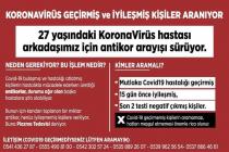 Ataşehir'de yaşayan Covid_19 plazma tedavisi olacak 27 yaşındaki genç için antikor arayışı devam ediyor