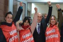 Bergama'da işten çıkarılan 3 kadın işçiye Tunç Soyer'den destek