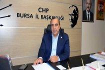 CHP Bursa İl Başkanı Karaca, çürümeye terk edilen 750 yataklı devlet hastanesi için çağrıda bulundu