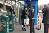 İBB toplu ulaşım araçlarında ücretsiz maske dağıtımına başladı