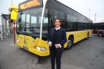 İETT'de 9 kadın şoför göreve başladı