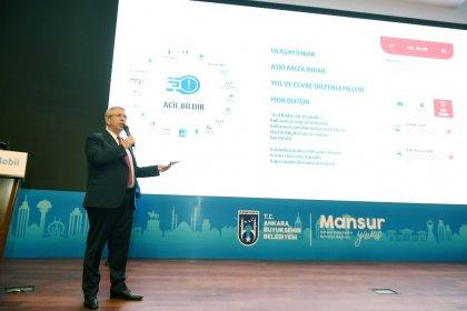 Mansur Yavaş, Türkiye'nin ilk mobil Akıllı Belediye uygulaması 'Başkent Mobil'i tanıttı
