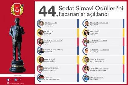 44. Sedat Simavi Ödülleri açıklandı