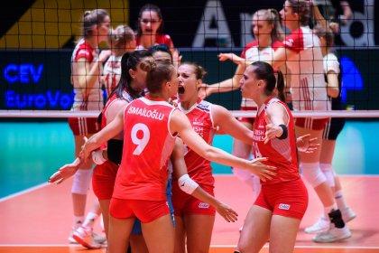A Milli Kadın Voleybol Takımı Olimpiyat Elemeleri'nde finale yükseldi
