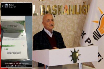 'AKP'li vekilin oğlu koronavirüs testi için sipariş aldı' iddiası