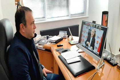 Alper İbaş, İç ve Güneydoğu Anadolu Bölgesi belediye başkanları online toplantısına katıldı