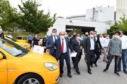 Ankara Büyükşehir Belediyesi'nden, Ankara'nın en büyük taksi durağının AŞTİ Taksi Durağına hijyen desteği