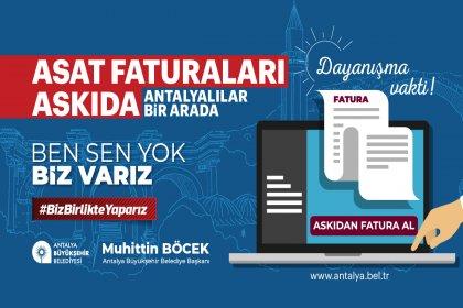 Antalya Büyükşehir Belediyesi de Askıda Fatura kampanyası başlattı