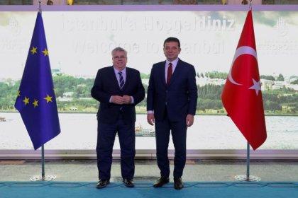 AP Türkiye Daimi Raportörü Nacho Sanchez Amor, Ekrem İmamoğlu'nu ziyaret etti