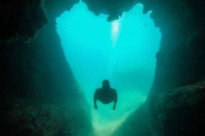 'Aşk mağarası' dalış tutkunlarının ilgi odağı