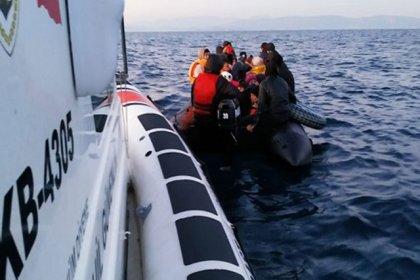 Ayvalık açıklarında 40 kaçak göçmen yakalandı