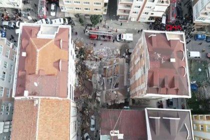 Bahçelievler'de bina çöktü: Çökmenin nedeni binadaki kolon demirlerinin alınması