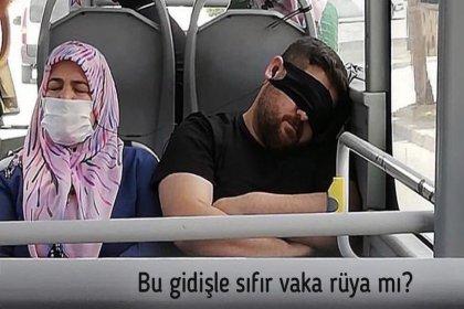 Bakan Koca'dan otobüsteki bir yolcunun maske takma şekline tepki: 'Bu gidişle sıfır vaka rüya mı?'