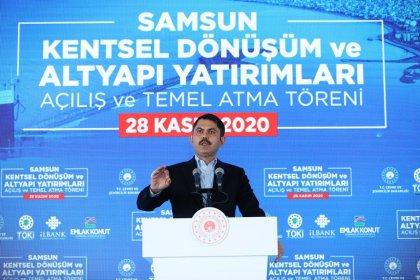 Bakan Kurum, Samsun'da kentsel dönüşüm temel atma töreninde konuştu