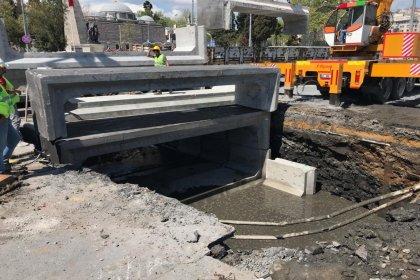 Beşiktaş'ta alt yapı çalışmları devam ediyor