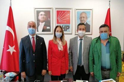 Birleşik Kamu İş'ten CHP Kadın Kolları Genel Başkanı Nazlıaka'ya ziyaret